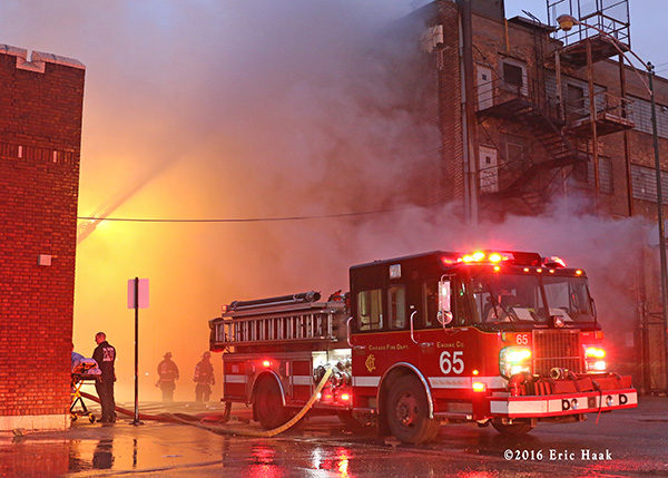 Chicago FD Engine 65 at a fire