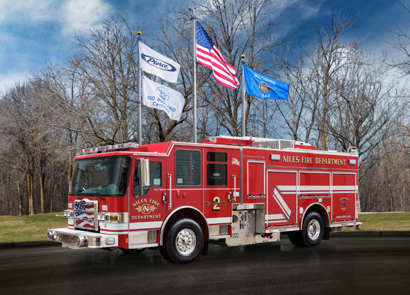 Pierce Dash CF PUC fire engine for Niles IL