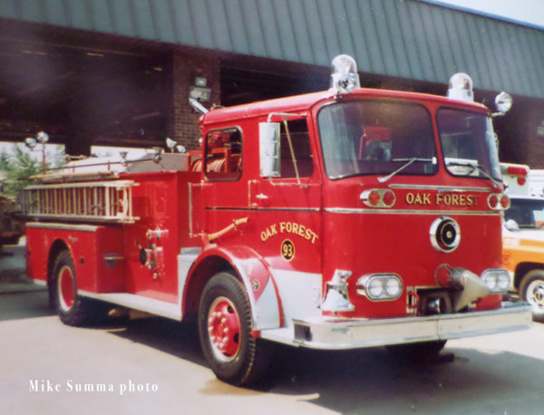 1967 Seagrave fire engine from Oak Forest IL