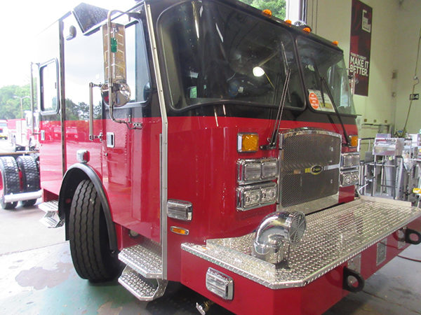 Fire engine being built for the Chicago Fire Department