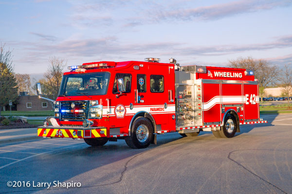 new fire engine for the Wheeling Fire Department