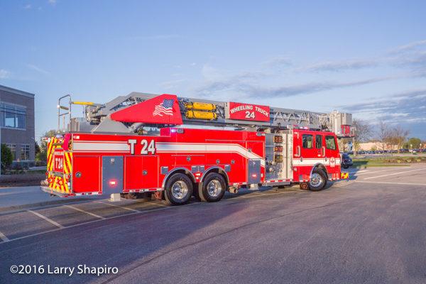 2016 Rosenbauer America Cobra tower ladder for the Wheeling Fire Department