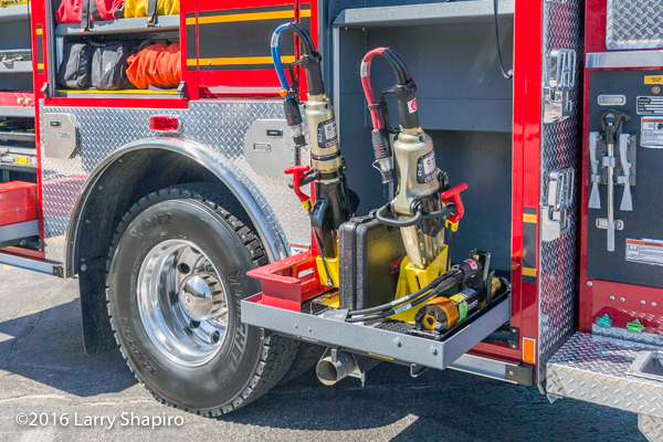 Genesis rescue tools on new fire truck