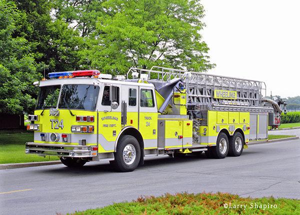 1994 Wheeling Fire Department Sutphen aerial tower