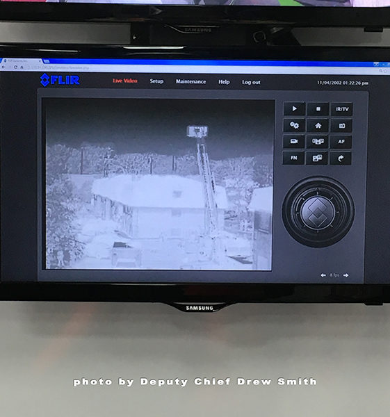 thermal imaging of building collapse