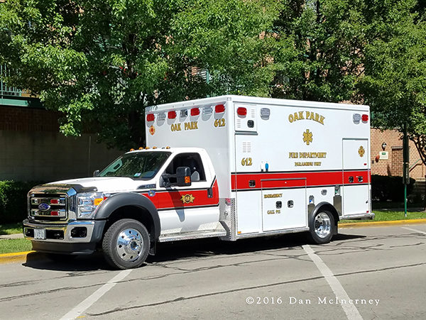 new ambulance for the Oak Park FD