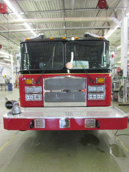 fire engine being built