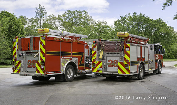 new and old fire engines