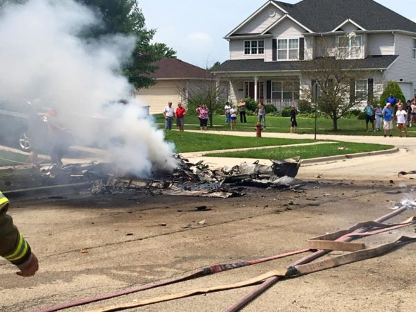 small plane crashes near Joliet IL
