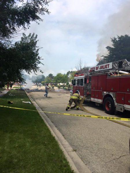 small plane crashes near Joliet IL