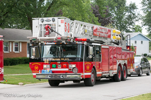 Schaumburg FD Truck 53 E-ONE tower ladder