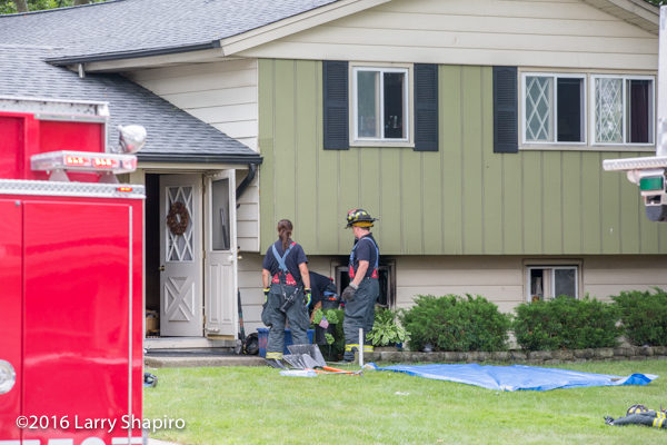 Schaumburg firefighters after house fire