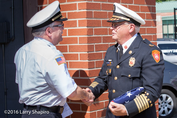 Prospect Heights Fire District Fire Chief Donald Gould Jr and Deputy Chief Drew Smith