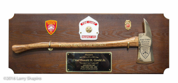 plaque for retiring fire chief