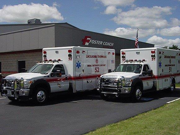 New ambulances for the Lincolnshire-Riverwoods FPD.