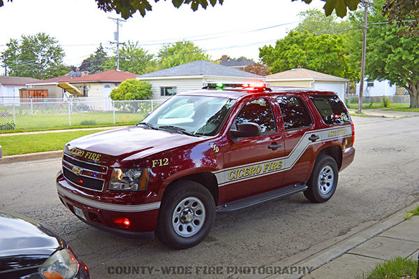 Cicero FD battalion chief car