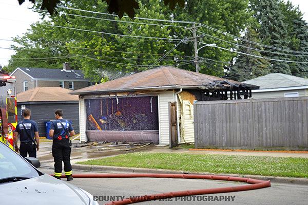 aftermath of garage fire