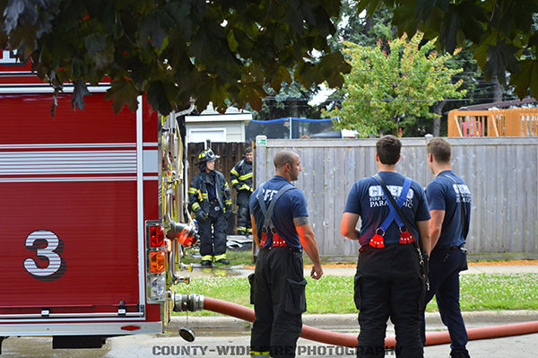 Cicero firefighters after a fire