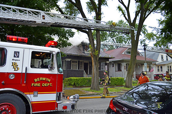 house fire in Berwyn IL