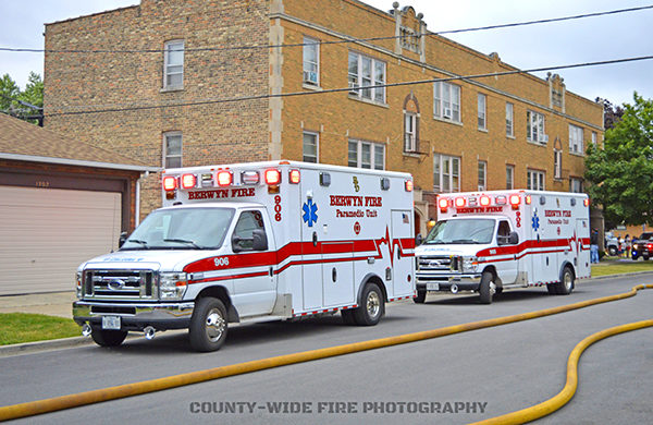 Berwyn FD ambulances