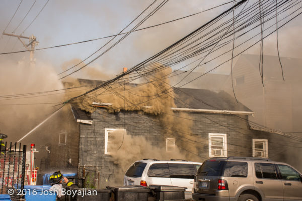 heavy smoke from house fire