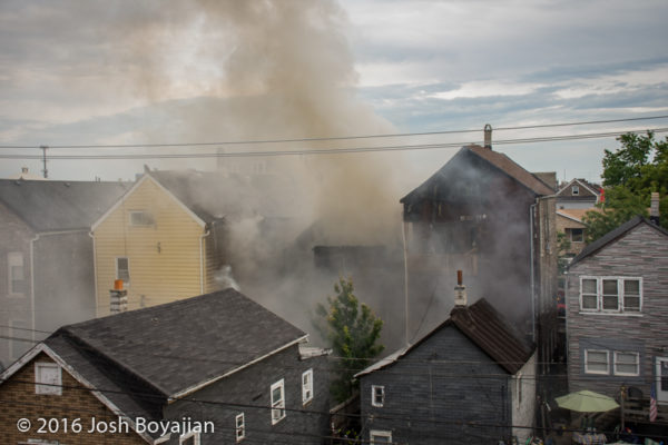 heavy smoke from house fire