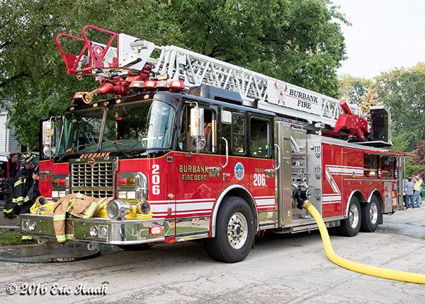 Burbank fire truck