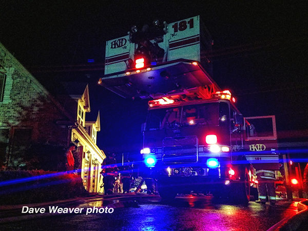 Bristol-Kendall FPD fire truck at night