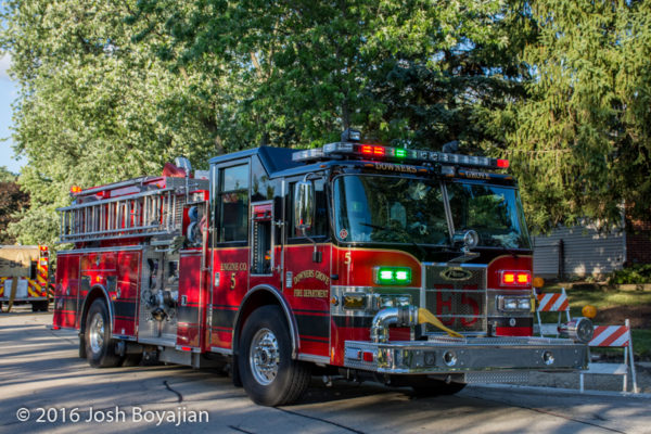 Downers Grove fire engine