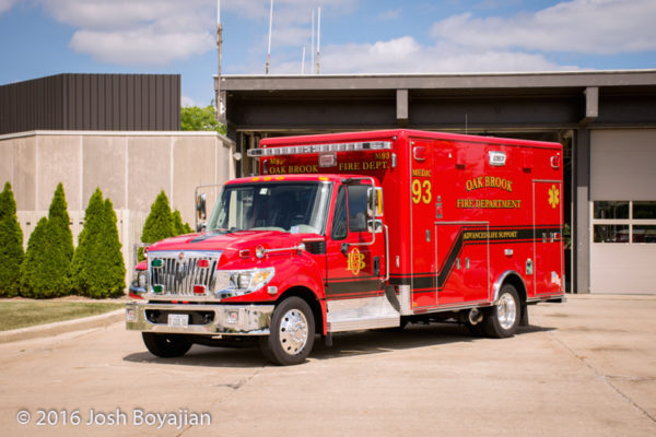 Oak Broof Fire Department ambulance
