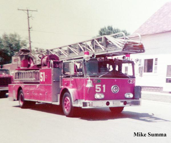vintage Chicago FD ladder truck 51