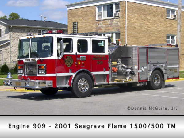 Seagrave Flame fire engine in Stone Park