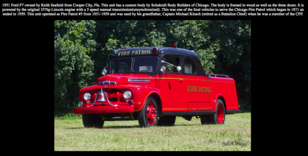 Fully restored former Chicago Fire Patrol unit