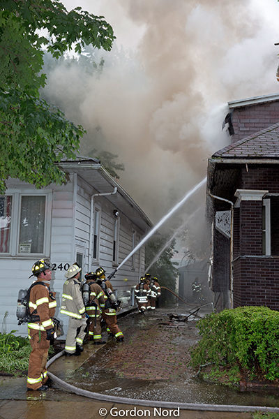 firefighters battle house fire in Berwyn IL