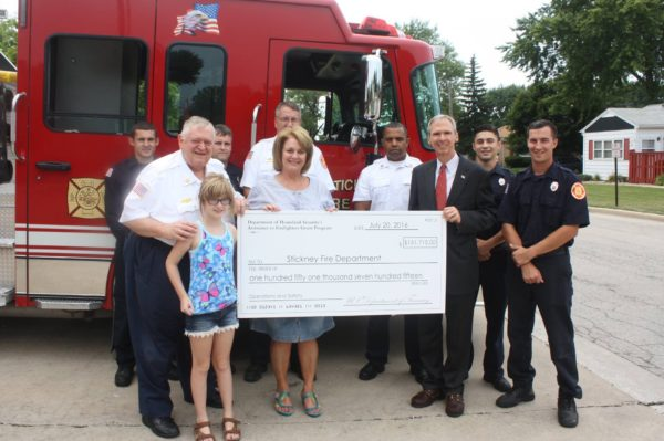 Stickney FD receives grant