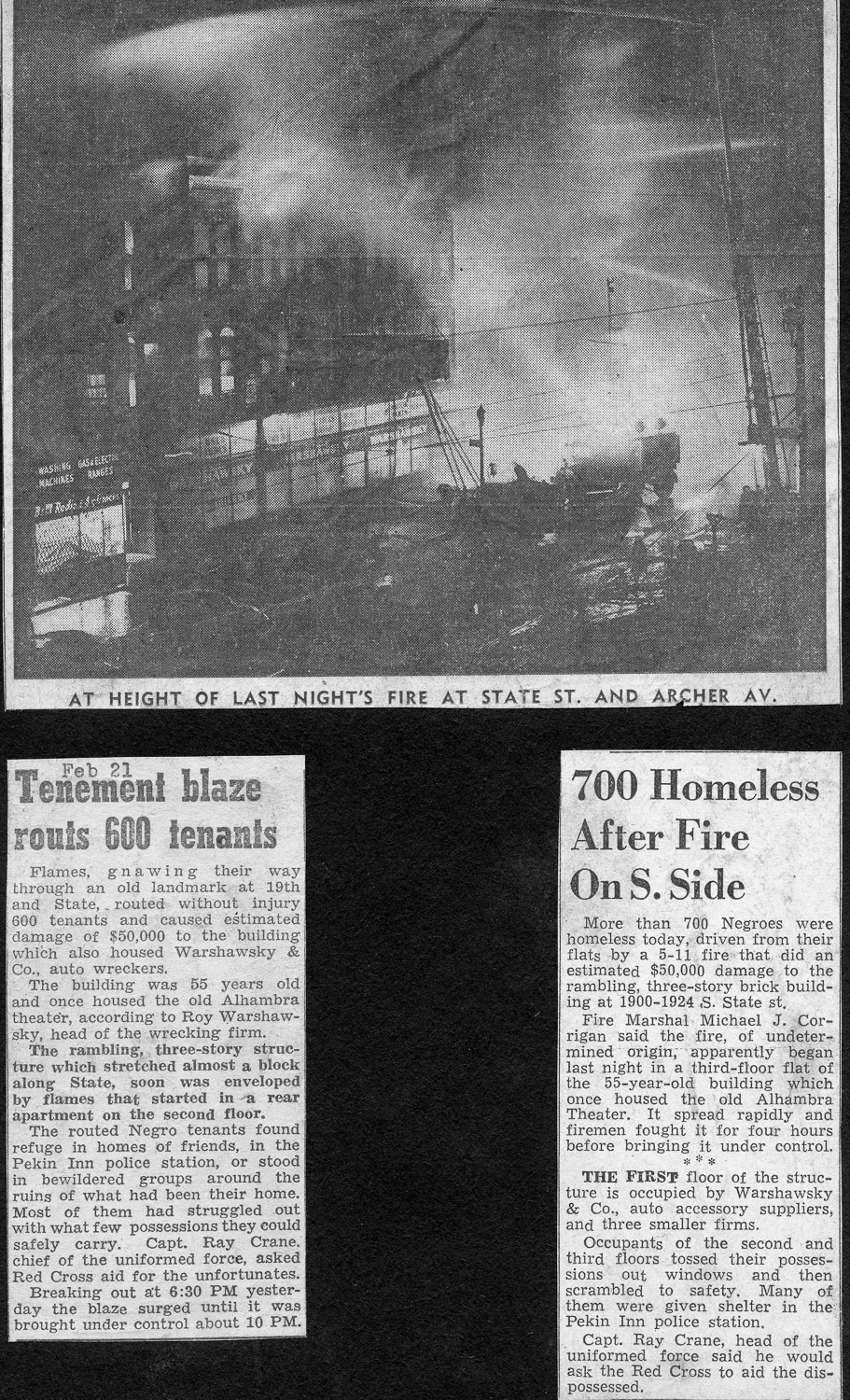 vintage news clippings about the Chicago Fire Department