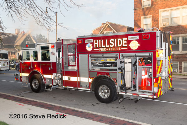 Hillside Fire Department fire engine