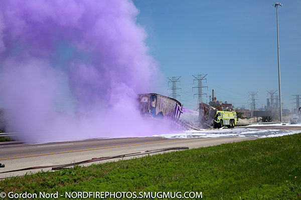ARFF discharging Purple K