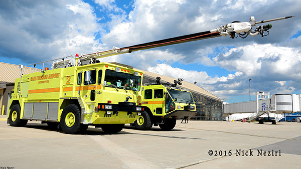 Gary Airport FD fire trucks