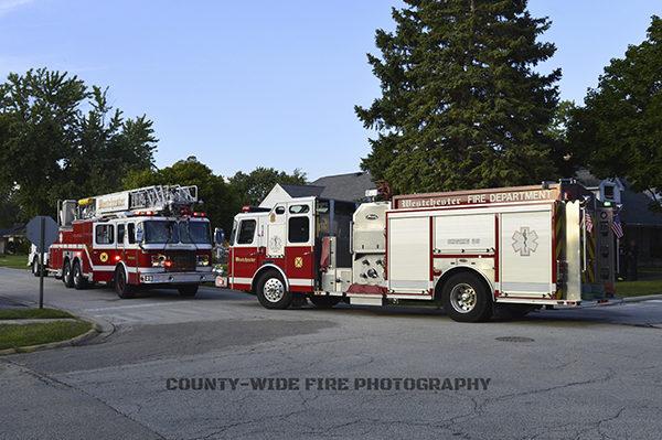 Westchester FD fire trucks