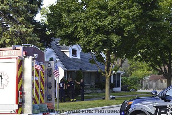 fire scene in Westchester IL