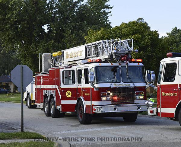 Westchester FD aerial ladder truck