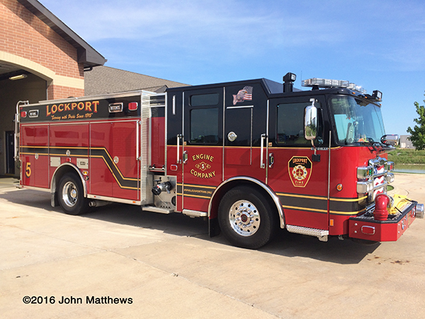 Lockport Township FPD fire engine