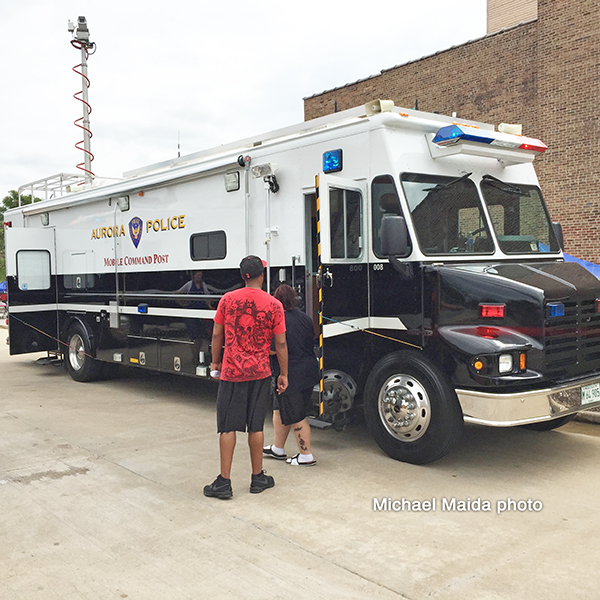 Aurora Police Department command post