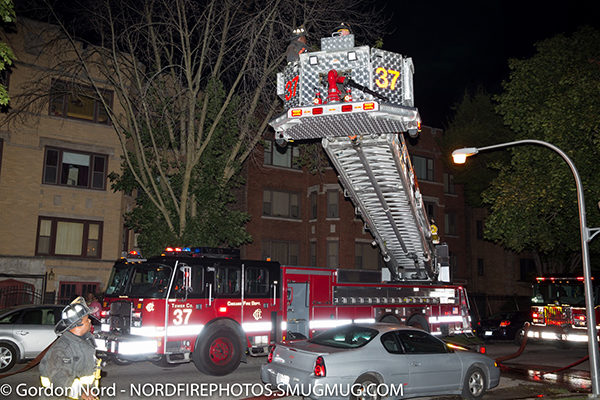 E-ONE tower ladder in Chicago