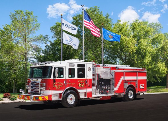 new fire engine for the New Lenox FPD