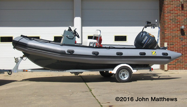 Lockport Township FPD Zodiac boat