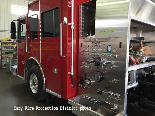 Sutphen fire engine being built