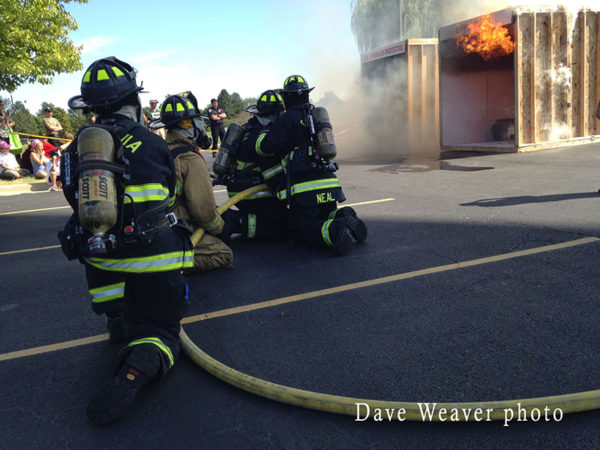 firefighting demonstration