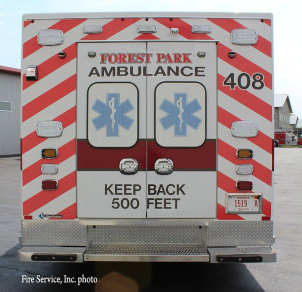 rear chevron striping on ambulance